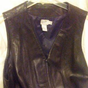 Jacqueline Ferror Zippered Leather Vest